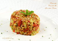 Farro with Cucumbers & Sun-dried