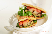 Grilled Eggplant & Portobello Sandwich with Sun-dried Tomato Pesto