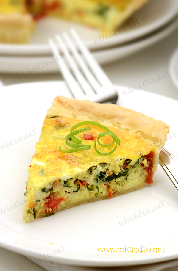 菠菜番茄干咸派 (Spinach & Sun-dried Tomato Quiche)